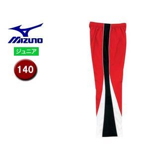 mizuno/ミズノ N2JD7420-69 トレーニングクロスパンツ ジュニア 【140】 (レッド×ブラック)