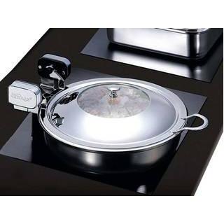 ハイパーラックス 丸型電磁サーバー ステンレス蓋タイプ(ノーマルヒンジ)50cm 645