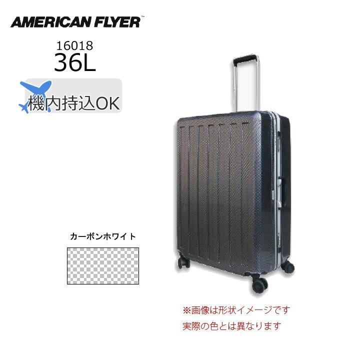 AMERICAN FLYER/アメリカンフライヤー  16018 MAX-CAPA 軽量 スーツケース フレームタイプ (36L/カーボンホワイト)
