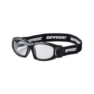 GLASSART/グラスアート 【代引不可】二眼型安全ゴーグル ブラック+度付レンズセット(マルチコート GP-98-BK-M