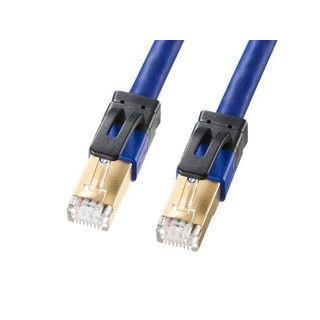 サンワサプライ  カテゴリ7A LANケーブル ブルー 10m KB-T7A-10BL