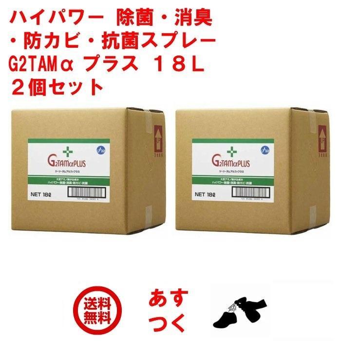 インフルエンザ 除菌 スプレー 業務用 G2TAM α プラス 18L ソフトタンク 2個セット ジーツータム アルファ ピース アンド キューズ 予防 対策 グッズ