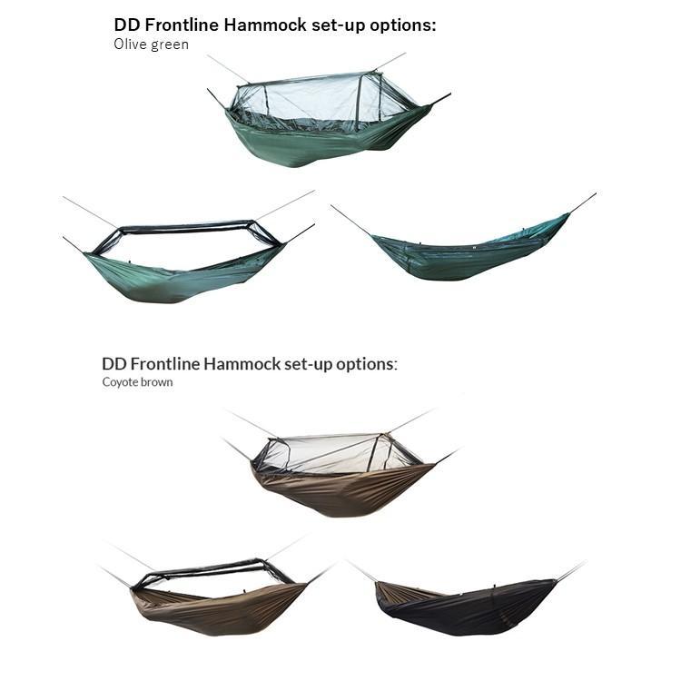 ハンモック DDハンモック DD Frontline Hammock フロントラインハンモック 蚊帳付き  オリーブグリーン コヨーテブラウン ジェットブラック サンセットオレンジ music-outdoor-lab 09