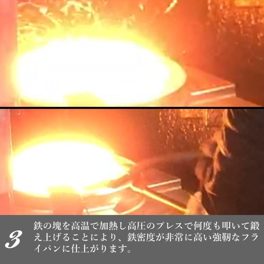 鉄フライパン 焚き火フライパン アイアンクラフト IRON PLATE mini アイアンプレートミニ 専用ハンドル 専用ケース付き 鍛造フライパン IH対応  ソロキャンプ music-outdoor-lab 04