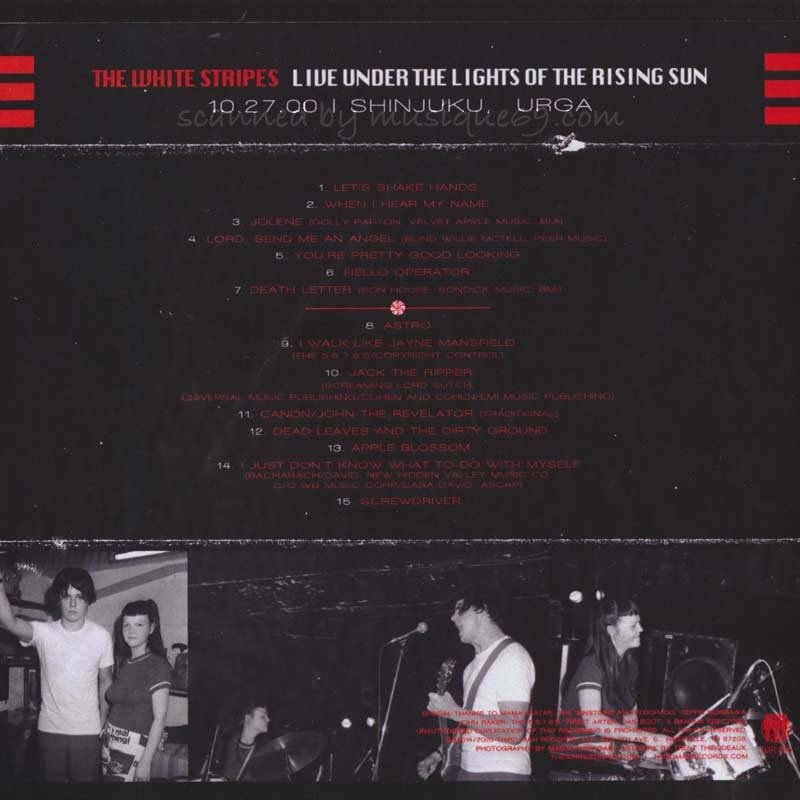 ホワイトストライプス The White Stripes - Live Under the Lights of the Rising Sun: Tokyo, Japan 10/27/2000 (CD)|musique69|02