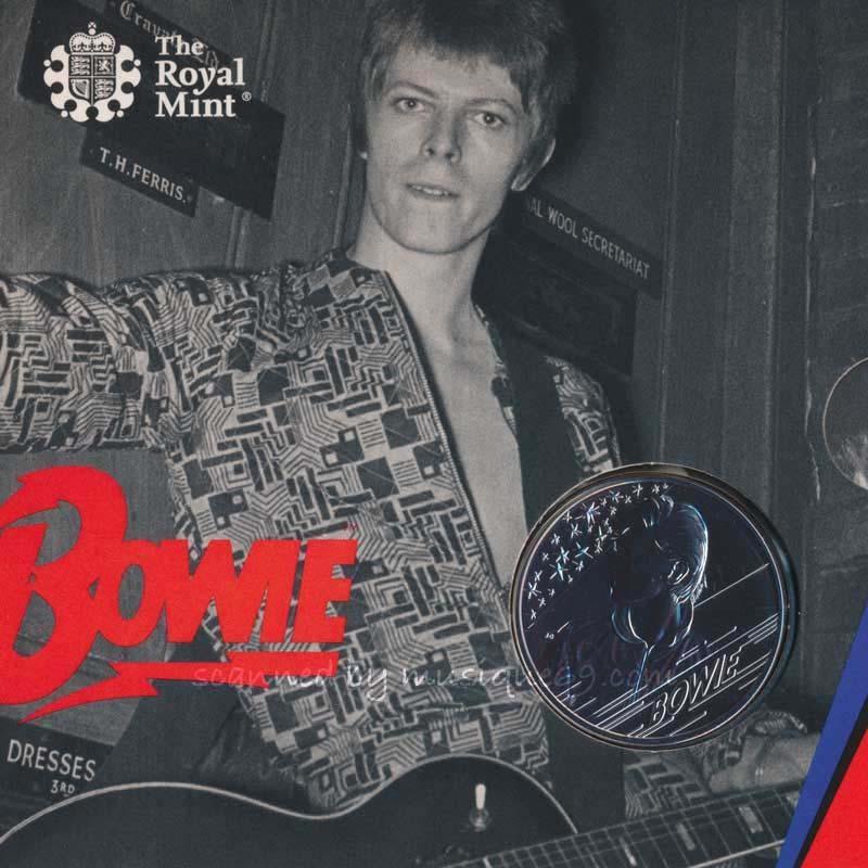 デヴィッドボウイ David Bowie - Music Legends: David Bowie 2020 £5 Brilliant Uncirculated Coin - Edition 3 (goods)|musique69