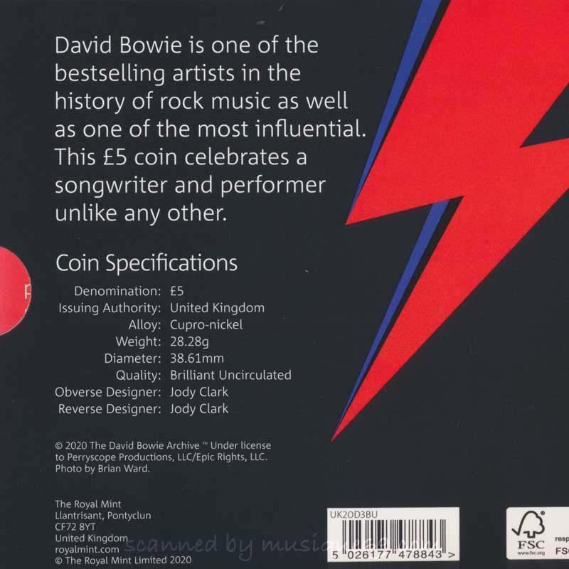 デヴィッドボウイ David Bowie - Music Legends: David Bowie 2020 £5 Brilliant Uncirculated Coin - Edition 3 (goods)|musique69|02