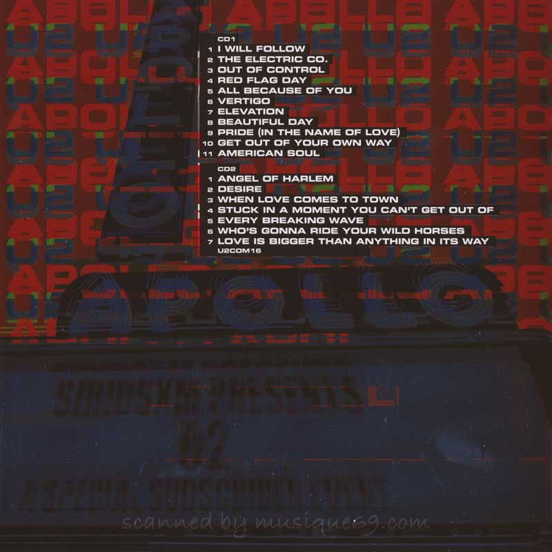 U2 - Live at the Apollo: For One Night Only (CD)|musique69|02