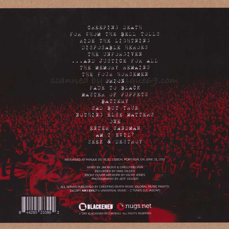 メタリカ Metallica - Lisbon, Portugal June 28, 2007 (CD)|musique69|02