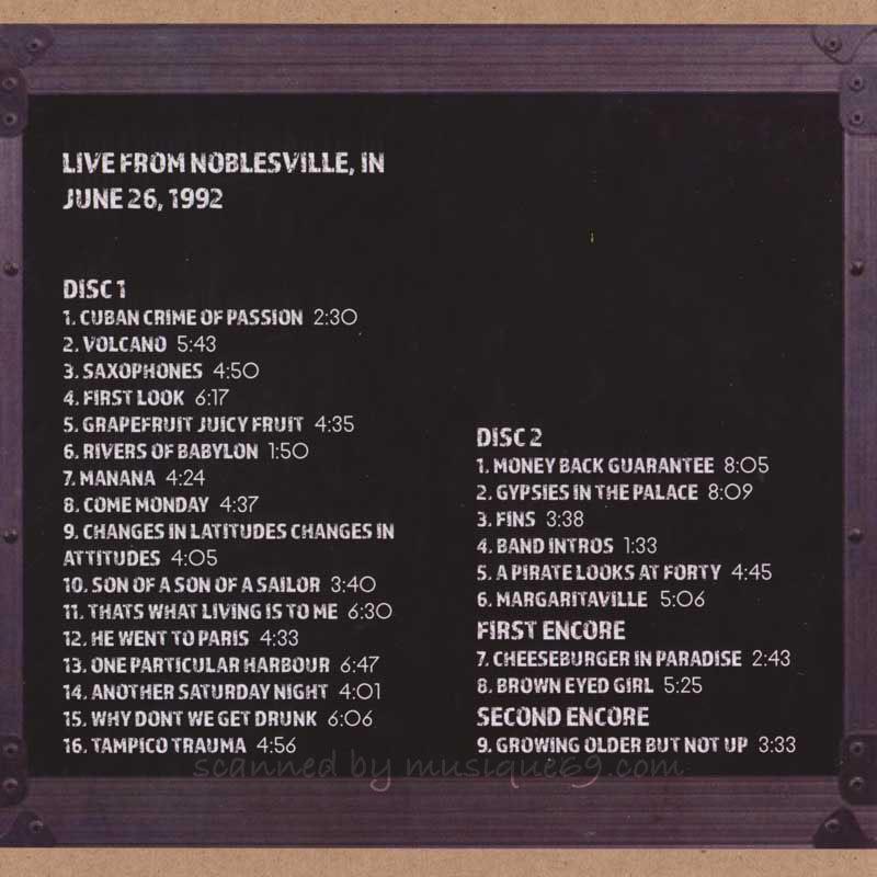 ジミーバフェット Jimmy Buffett - Live from Noblesville, IN 06/26/1992 (CD)|musique69|02
