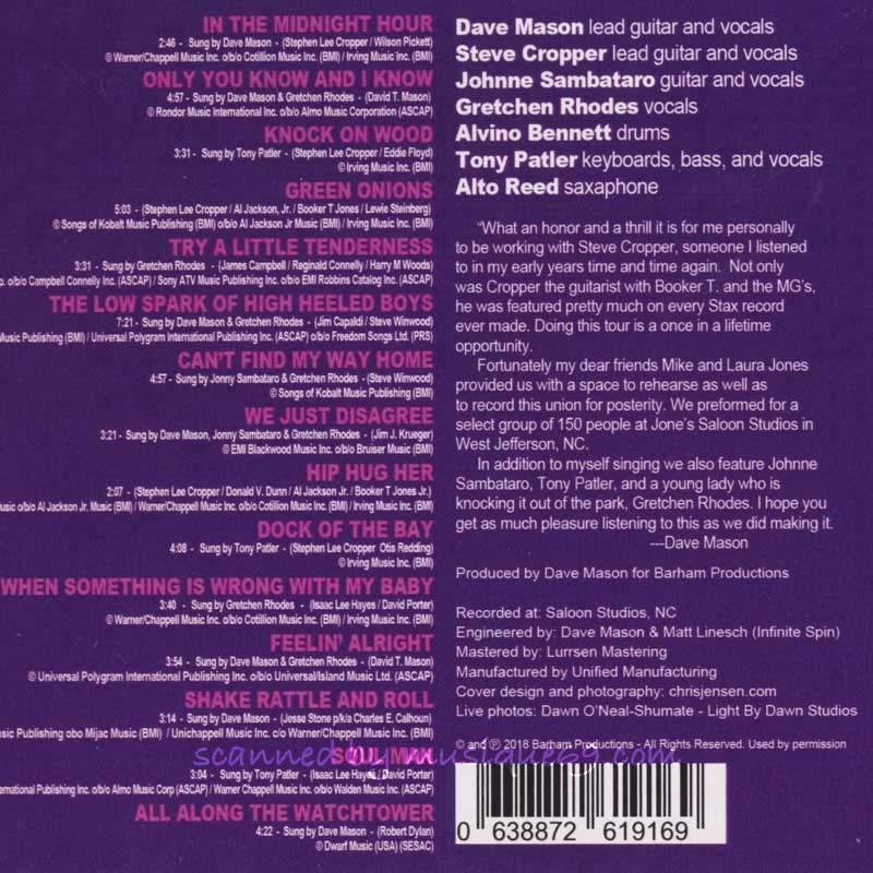 デイヴメイスン Dave Mason & Steve Cropper featuring Gretchen Rhodes - 4 Real Rock & Soul Revue (CD)|musique69|02