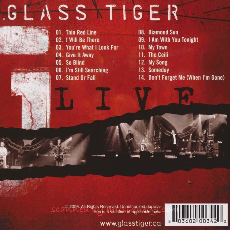 グラスタイガー Glass Tiger - Live (CD)|musique69|02