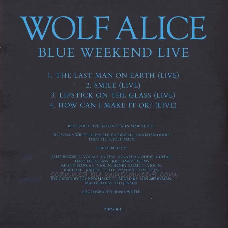ウルフアリス Wolf Alice - Blue Weekend/ Blue Weekend Live: Exclusive Limited Edition (CD) musique69 03