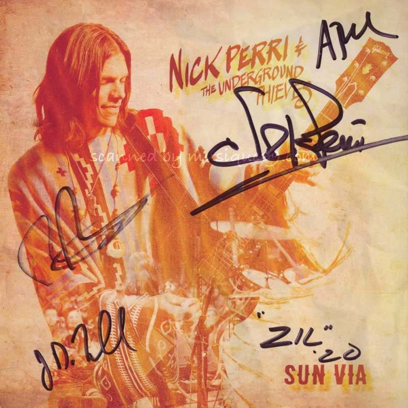 Nick Perri & The Underground Thieves - Sun Via: Exclusive Autographed Edition (CD)|musique69