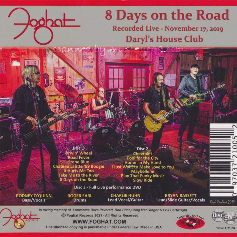 フォガット Foghat - 8 Days on the Road: Exclusive Autographed Edition (CD/DVD)|musique69|02
