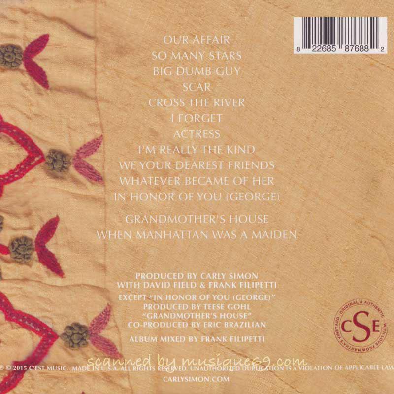 カーリーサイモン Carly Simon - The Bedroom Tapes: Exclusive Special Edition (CD)|musique69|02