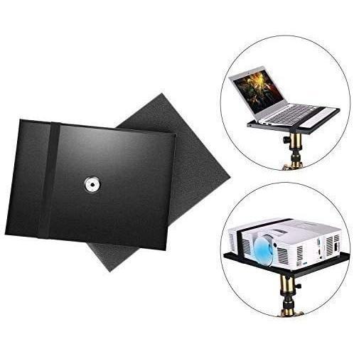 プロジェクタートレイ 三脚スタンドテーブル台 プロジェクター台座 プロジェクター、ノートパソコンなどを適合 (ブラック)|musubi-syop|07