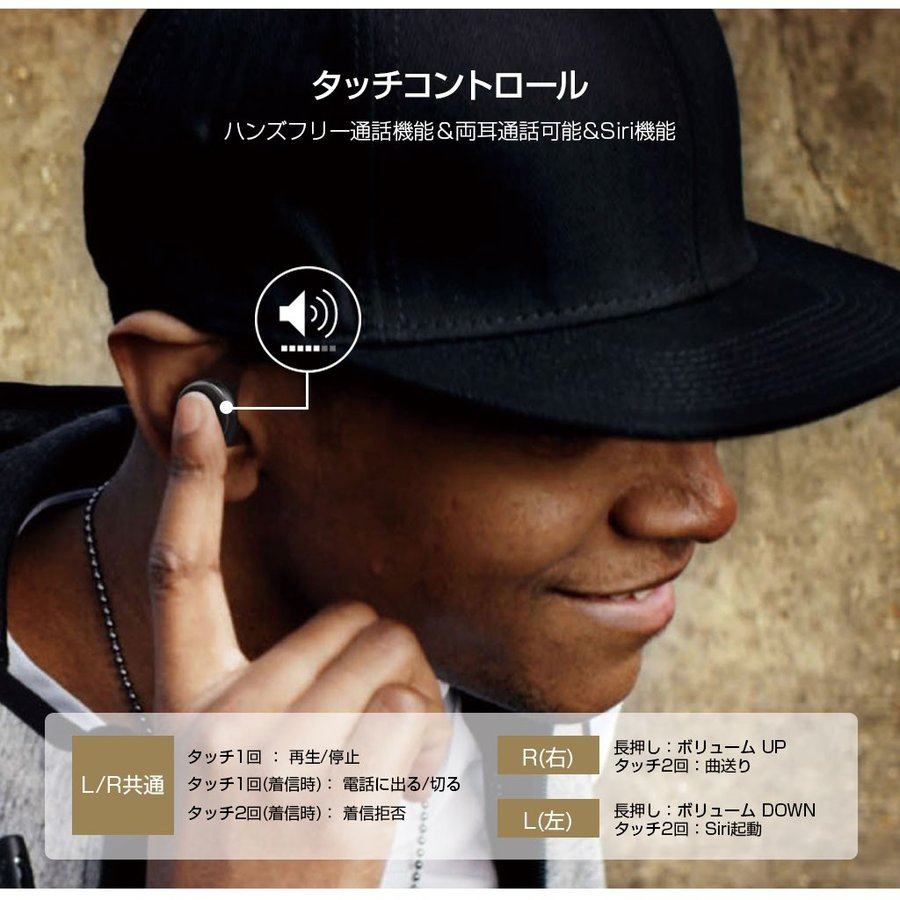 ブルートゥース イヤホン 完全ワイヤレスイヤホン PaMuScroll Plus +ワイヤレス充電レシーバー(パムスクロール)Padmate Bluetooth ワイヤレスイヤホン|mycaseshop|17