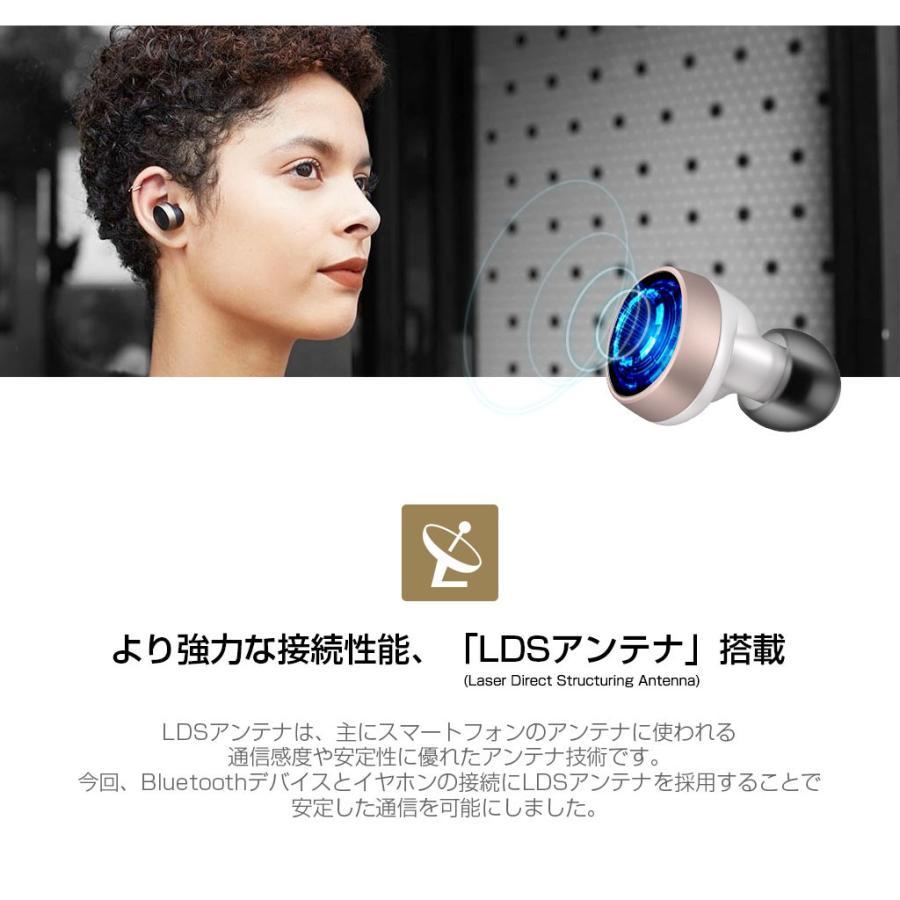 ブルートゥース イヤホン 完全ワイヤレスイヤホン PaMuScroll Plus +ワイヤレス充電レシーバー(パムスクロール)Padmate Bluetooth ワイヤレスイヤホン|mycaseshop|06