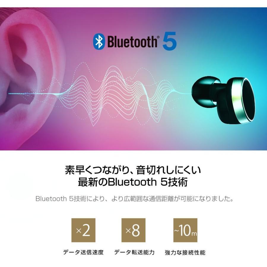 ブルートゥース イヤホン 完全ワイヤレスイヤホン PaMuScroll Plus +ワイヤレス充電レシーバー(パムスクロール)Padmate Bluetooth ワイヤレスイヤホン|mycaseshop|07