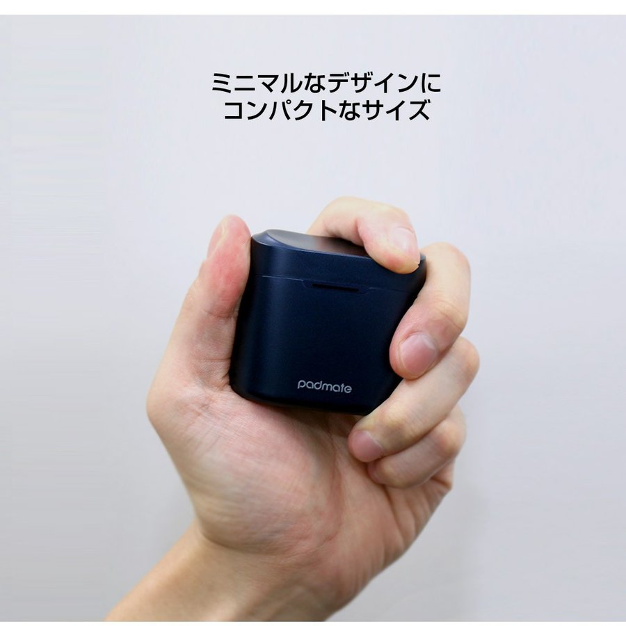 Qualcommチップ搭載 完全ワイヤレスイヤホン Tempo T5 Plus(パッドメイト テンポティファイヴ プラス)高音質コーデックaptX IPX6 防水 テレワーク 在宅勤務|mycaseshop|12