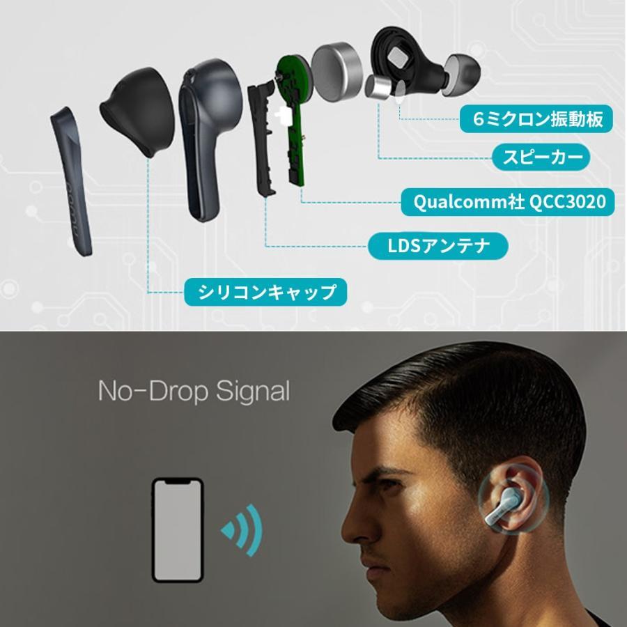 Padmate 完全ワイヤレスイヤホン Pamu Slide (パムスライド) Qualcomm社のQCC3020搭載 10時間再生 IPX6防水 スポーツに最適 Bluetooth 5.0 AAC aptX|mycaseshop|08