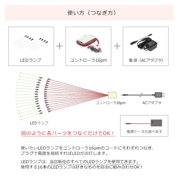 コントローラ16Pm 【常時点灯16本用】|mycraft|03