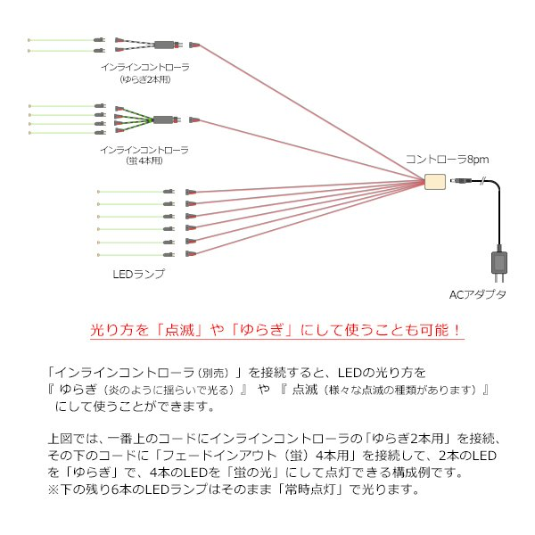 コントローラ8Pm 【常時点灯8本用】|mycraft|07