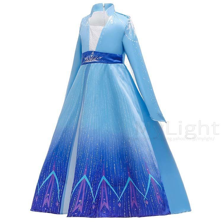 アナと雪の女王2 エルサ風ドレス アナ雪2 アナ エルサ 子供 キッズ コスプレ 衣装 仮装 4点セット コスチューム ドレス ワンピース|mylight|03