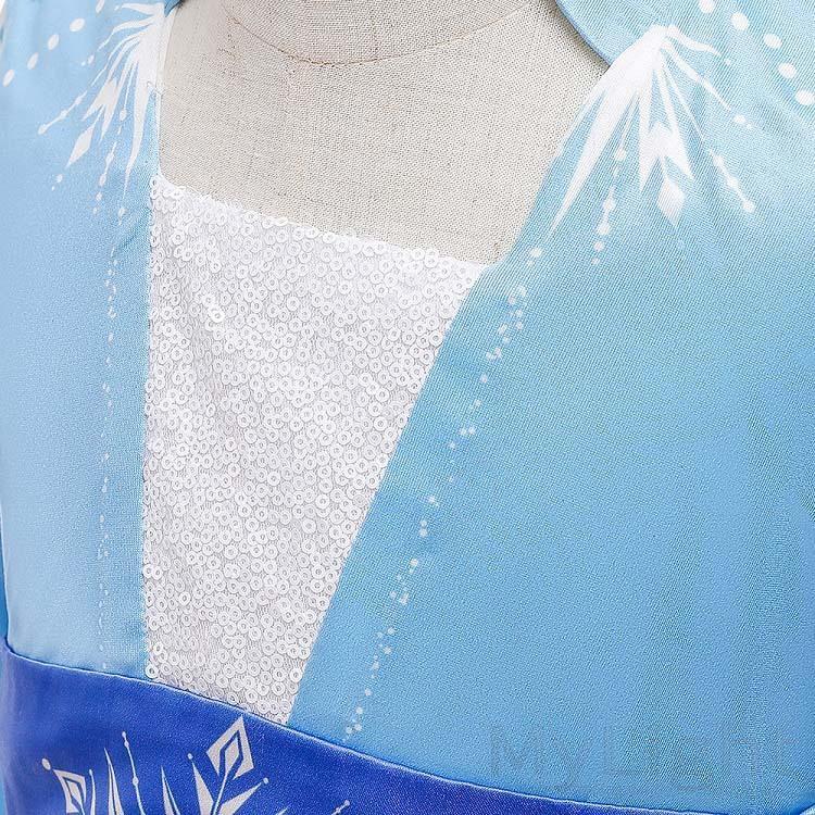 アナと雪の女王2 エルサ風ドレス アナ雪2 アナ エルサ 子供 キッズ コスプレ 衣装 仮装 4点セット コスチューム ドレス ワンピース|mylight|05