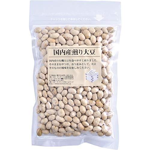 ビオマーケット ビオマルシェ 有機 大豆使用煎り大豆 150g