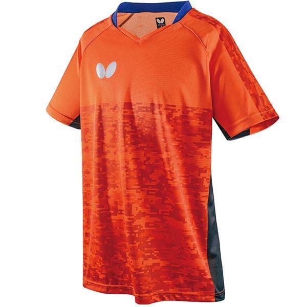 バタフライ(Butterfly) 卓球アパレル ELCREST SHIRT(エルクレスト・シャツ) 男女兼用 45440 オレンジ L