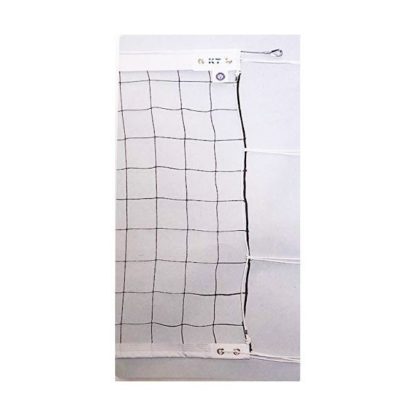 KTネット 上下テープ付き 6人制バレーネット 日本製 〔サイズ:巾100cm×長さ9.5×網目10cm〕 KT6132