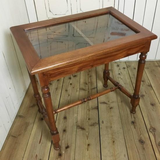 アンティーク調 コレクションテーブル ガラスケース ショーケース 店舗什器 マホガニー ナチュラル