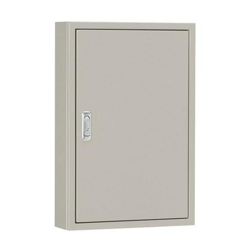 日東工業 B14-435 [B] 盤用キャビネット 鉄板製/屋内用 露出形 木製基板付 片扉 ライトベージュ塗装