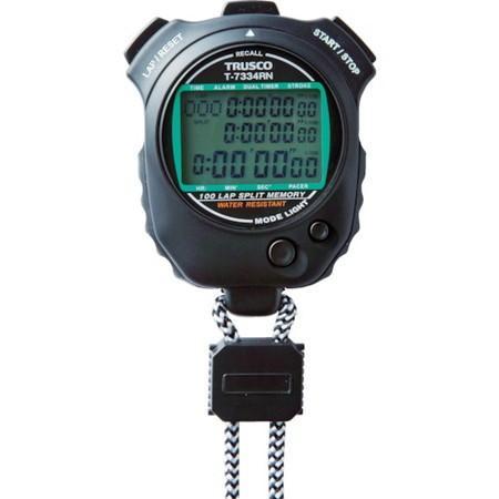 防滴型ストップウォッチ TRUSCO T7334RN-4500 トラスコ