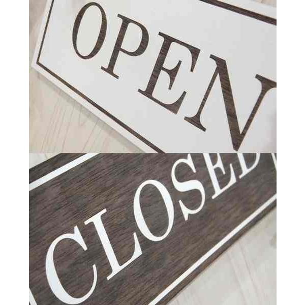 オープン&クローズ看板 おしゃれな 木製 オープンプレート OPEN CLOSED 両面 サイン 営業中 ハンドメイド インテリア 手作り雑貨|n-lighting|04