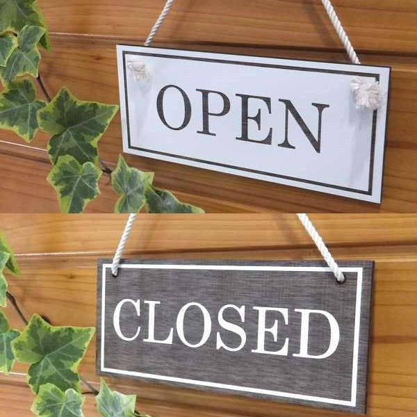 オープン&クローズ看板 おしゃれな 木製 オープンプレート OPEN CLOSED 両面 サイン 営業中 ハンドメイド インテリア 手作り雑貨|n-lighting|05