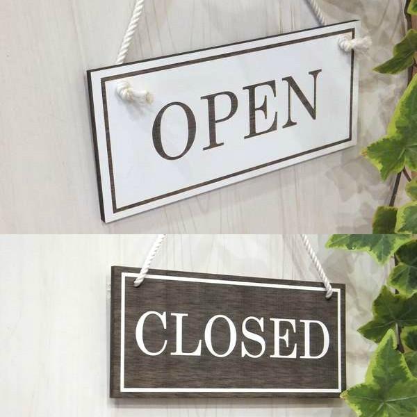 オープン&クローズ看板 おしゃれな 木製 オープンプレート OPEN CLOSED 両面 サイン 営業中 ハンドメイド インテリア 手作り雑貨|n-lighting|06