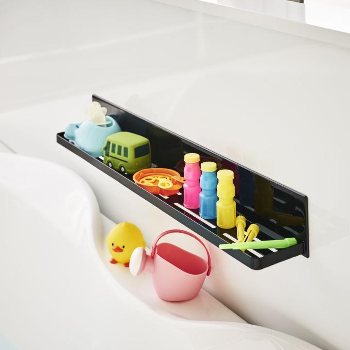 ( マグネット バスルーム ラック ロング タワー ) tower 大容量 ロング 収納 浴室 バス おもちゃ 整理 掃除 棚 磁石 ホワイト ブラック 白 黒|n-raffine|02