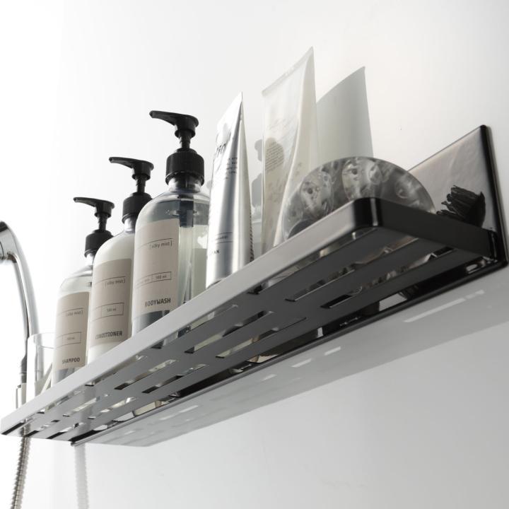 ( マグネット バスルーム ラック ロング タワー ) tower 大容量 ロング 収納 浴室 バス おもちゃ 整理 掃除 棚 磁石 ホワイト ブラック 白 黒|n-raffine|03