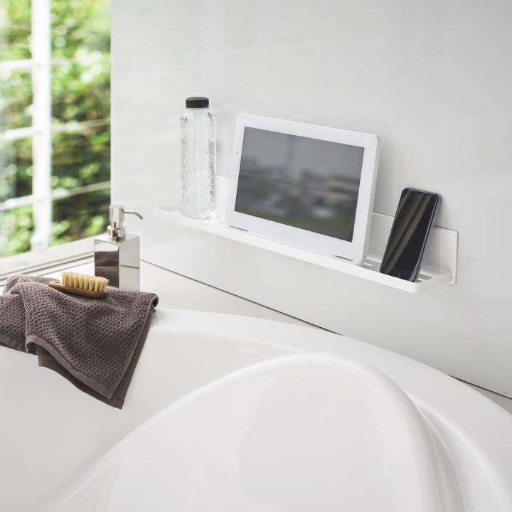 ( マグネット バスルーム ラック ロング タワー ) tower 大容量 ロング 収納 浴室 バス おもちゃ 整理 掃除 棚 磁石 ホワイト ブラック 白 黒|n-raffine|04