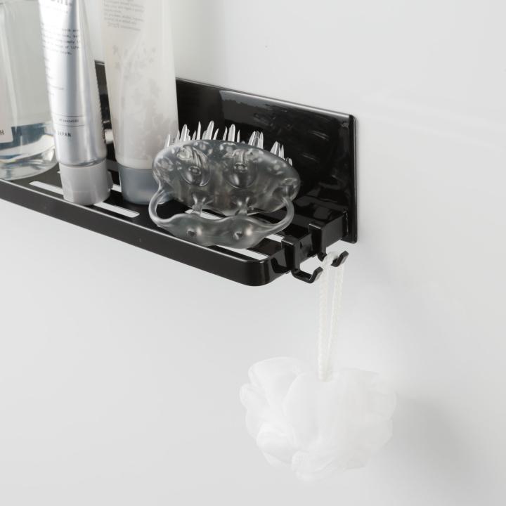 ( マグネット バスルーム ラック ロング タワー ) tower 大容量 ロング 収納 浴室 バス おもちゃ 整理 掃除 棚 磁石 ホワイト ブラック 白 黒|n-raffine|07