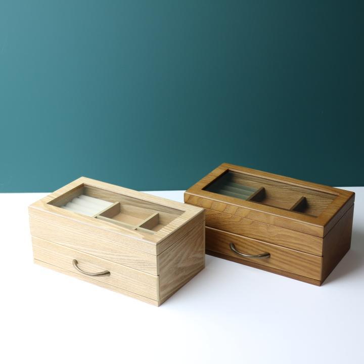 ( セール価格 ) ( ナチュラリー ジュエルボックス ) 木製 天然 木 ジュエリーアクセサリー ボックス  収納 ケース n-raffine
