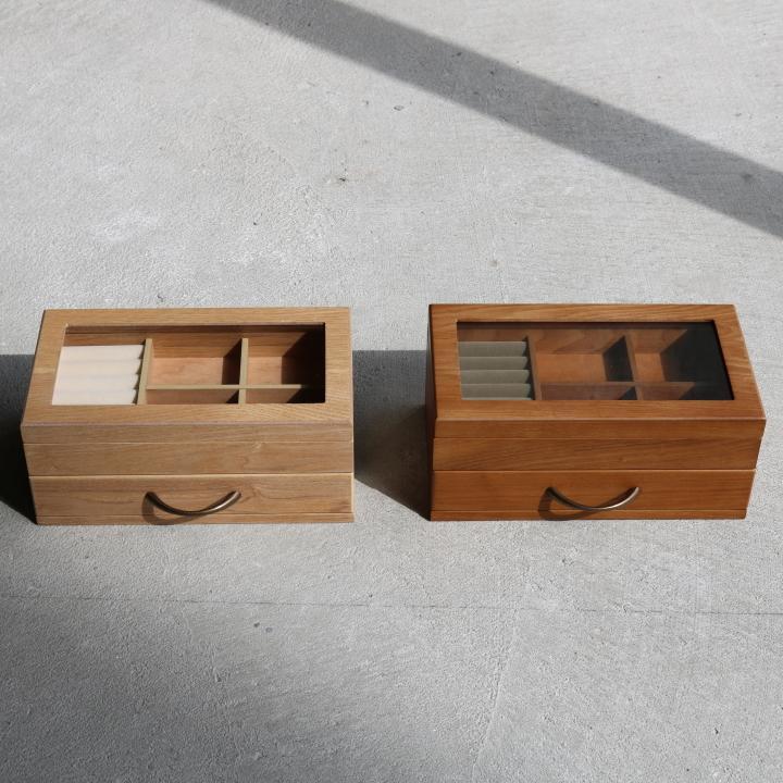 ( セール価格 ) ( ナチュラリー ジュエルボックス ) 木製 天然 木 ジュエリーアクセサリー ボックス  収納 ケース n-raffine 02