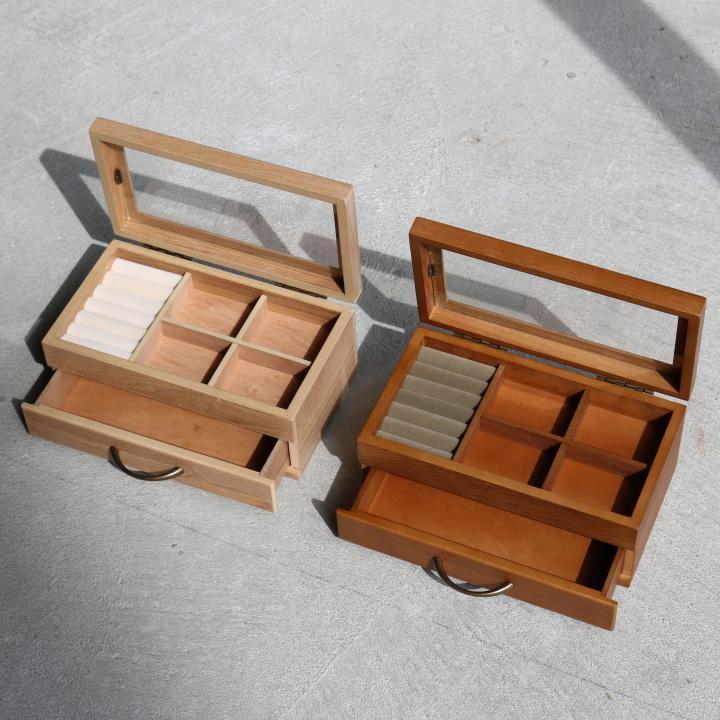 ( セール価格 ) ( ナチュラリー ジュエルボックス ) 木製 天然 木 ジュエリーアクセサリー ボックス  収納 ケース n-raffine 03