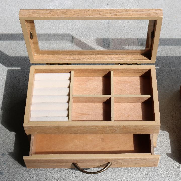 ( セール価格 ) ( ナチュラリー ジュエルボックス ) 木製 天然 木 ジュエリーアクセサリー ボックス  収納 ケース n-raffine 04