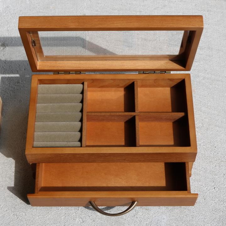( セール価格 ) ( ナチュラリー ジュエルボックス ) 木製 天然 木 ジュエリーアクセサリー ボックス  収納 ケース n-raffine 05