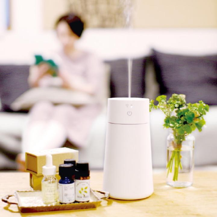 ( グリーンティーラボ ポータブル アロマディフューザー ) キシマ 加湿器 ディフューザー 小型 加湿 花粉症 花粉 コンパクト アロマ n-raffine