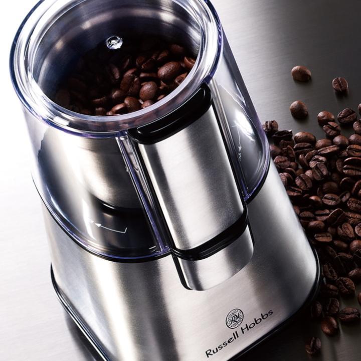 ( コーヒー グラインダー ) ラッセル ホブス Russell Hobbs 電動 正規品 珈琲 コーヒー コーヒー豆 粗挽き 中挽き 細挽き 朝食 昼食 n-raffine 03